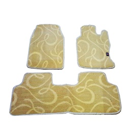 Honda Civic Custom Fit Carpet Floor Mat Beige - Model 2009-2012-SehgalMotors.Pk