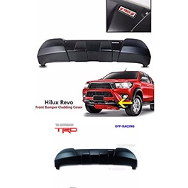 Toyota Hilux Revo Front Bumper Cladding Guard Unpainted - Model 2016-2020-SehgalMotors.Pk