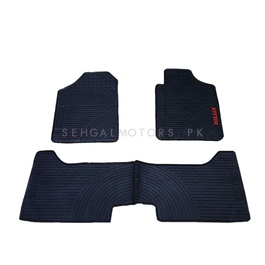 Toyota Hilux Surf Custom Fit PVC Floor Mat Black - Model 2002-2009-SehgalMotors.Pk