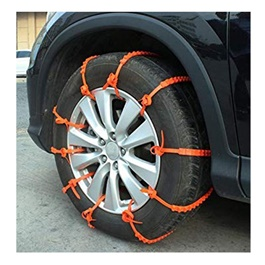 Emergency Anti-Skid Tires Snow Chains - 10Pcs-SehgalMotors.Pk