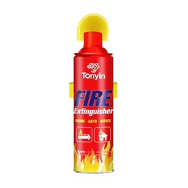 Tonyin Fire Extinguisher - 450ml | Portable Size Lightweight Household Car Use Fire Extinguisher | Compact Fire Extinguisher for Laboratories, Hotels, Cars | Fire Extinguisher Safety Flame Fighter Home Office Car-SehgalMotors.Pk