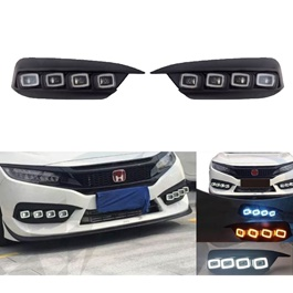 Honda Civic Bugatti Style DRL Fog Lamp - Model 2016-2019-SehgalMotors.Pk