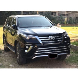 Toyota Fortuner Zigma / Sigma Style Body Kit / Bodykit With Chrome 2 Pcs Version 2- Model 2017 - 2018-SehgalMotors.Pk