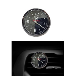 Honda Car Dashboard Or AC Grill Clock  | Car Dashboard Quartz Clock | Car Clock | Mini Automobiles Internal Stick On Digital Watch | Auto Ornament Car Accessories Gifts