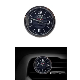 Toyota Car Dashboard Or AC Grill Clock | Car Dashboard Quartz Clock | Car Clock | Mini Automobiles Internal Stick On Digital Watch | Auto Ornament Car Accessories Gifts-SehgalMotors.Pk