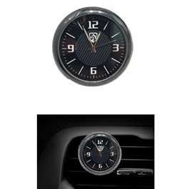 Ferrari Car Dashboard And AC Grill Clock | Car Interior Decoration Ornament Car Styling | Round Shape Car Automobile Digital Clock Auto Watch/Thermometer-SehgalMotors.Pk