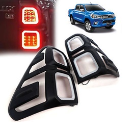 Toyota Hilux Revo BackLights Cover Black - Model 2016-2019