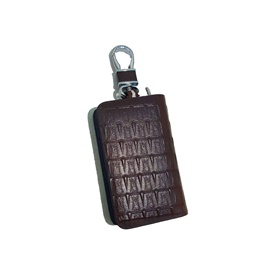 Universal Zipper Crocodile Style Leather Key Cover - Brown-SehgalMotors.Pk