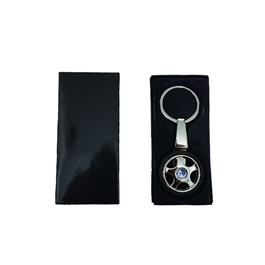 Honda Tire Rim Key Chain / Key Ring With Blue Logo-SehgalMotors.Pk