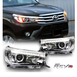 Toyota Hilux Revo LED Projection Headlight - Pair Model 2016-2019-SehgalMotors.Pk