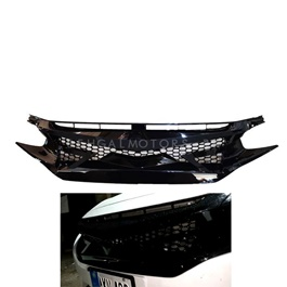 Honda Civic New X Style Grille - Model 2016-2021 | X Style Grille | Civic Grille | New Style Civic Grille | Latest Model Grille | Front Grille X Style Hood Mesh Upper Grill-SehgalMotors.Pk