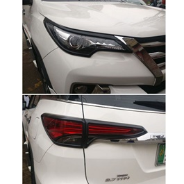 Toyota Fortuner Headlight Frame Black Color 2 Pcs - Model 2016-2019-SehgalMotors.Pk