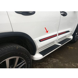 Toyota Fortuner Body Cladding Red and Black - Model 2016-2019