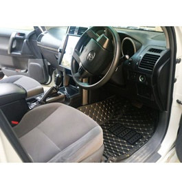 Toyota Prado 7D Stitched Floor Mat Black 7 Pcs- Model 2009-2019	-SehgalMotors.Pk
