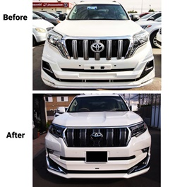Toyota Prado Face Lift Conversion / Upgrade to 2020 with Modellista Body Kit / Bodykit | Uplift New Model Shape