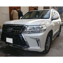 Toyota Land Cruiser 2008 Conversion / Upgrade to Lexus LX570 2019 | Lexus Style Face Up lift-SehgalMotors.Pk
