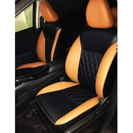 Honda Vezel Seat Covers Black And Orange - Model 2013-2018-SehgalMotors.Pk