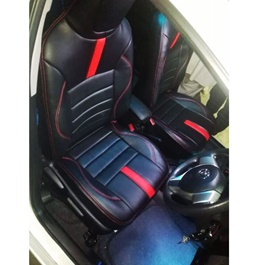 Toyota Vitz Seat Covers Black With Red Lines - Model 2014-2018-SehgalMotors.Pk
