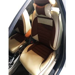 Buy Honda City Seat Covers Beige and Brown - Model 2017 ...
