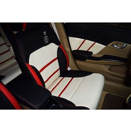Honda Civic Seat Covers Tri color with Red Lines - Model 2016-2020-SehgalMotors.Pk
