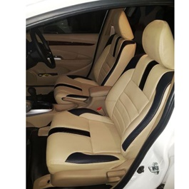 Honda City Seat Covers Beige With Black Lines - Model 2017-2019-SehgalMotors.Pk