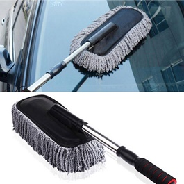 Maximus Car Big Duster and Wash Brush | Dusting for Car | Microfiber Expandable Wet & Dry Use Duster
