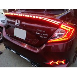 Honda Civic Cobra Style Running LED Spoiler - Model 2016-2021-SehgalMotors.Pk