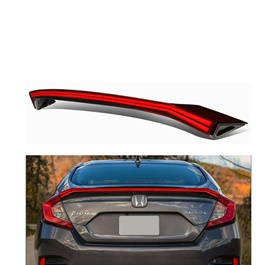 Honda Civic Complete LED Spoiler Double Liner- Model 2016-2021-SehgalMotors.Pk