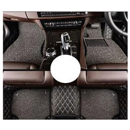 Toyota Fortuner 9D Floor Mats Black and Grey - Model 2016-2019-SehgalMotors.Pk