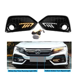 Honda Civic Type R DRL Fog Lamp Covers - Model 2016-2020-SehgalMotors.Pk