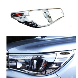 Toyota Hilux Revo Chrome headlights Cover - Model 2016-2019-SehgalMotors.Pk
