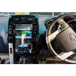 Toyota Prado Tesla Style IPS Display LCD Multimedia System Android 13.6 Inches Version 2  - Model 2009-2013-SehgalMotors.Pk