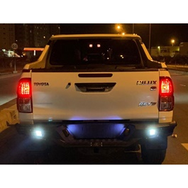 Toyota Hilux Revo Rear Bumper New Style with Lights Matte Black - Model 2016-2020-SehgalMotors.Pk