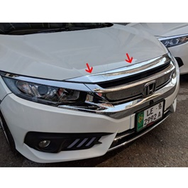 Honda Civic Chrome Bonnet Trim - Model 2016-2020	-SehgalMotors.Pk