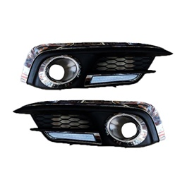 Honda Civic Chrome with LED DRL Fog Lamps / Fog Lights Cover - Model 2016-2020-SehgalMotors.Pk