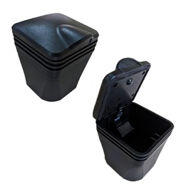 Rubber Style Portable Car Ashtray For Smokers - Black-SehgalMotors.Pk