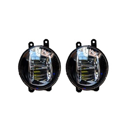 Universal Built in LED Fog Lamps / Fog Lights - Pair-SehgalMotors.Pk
