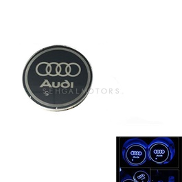 Audi RGB LED Car Cup Holder Plate - 1 piece | Car RGB LED Cup Holder Mat Pad Coaster Rechargeable Interior Atmosphere Lamp Decoration Light for Car Home Party | RGB LED Cup Holder Car Cup Pad Cup Holder Mat Water Drinks Pad Light Car Accessories-SehgalMotors.Pk