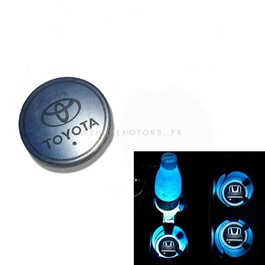 Toyota RGB LED Car Cup Holder Plate - 1 piece-SehgalMotors.Pk