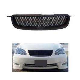 Toyota Corolla Front Grill - Model 2002-2008 | Car Front Hood Grille Grill Car Exterior Mesh ABS | Corolla Grille | Net Style Grille | JDM Type R Black Mesh ABS Front Hood Grille -SehgalMotors.Pk