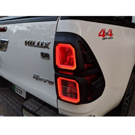 Toyota Hilux Revo Back lights Cover Black - Model 2016-2020-SehgalMotors.Pk