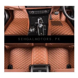 Honda Vezel 7D Floor Mats Brown - Model 2013-2018-SehgalMotors.Pk