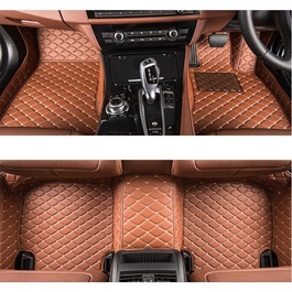 Porsche Cayenne 7D Floor Mats Brown - Model 2010-2018-SehgalMotors.Pk