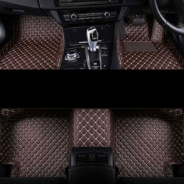 Audi A6 7D Luxury Floor Mats Coffee - Model 2011-2018-SehgalMotors.Pk