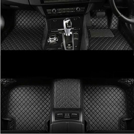 Toyota Aqua 7D Floor Mats Black With Black Stitch - Model 2012-2018-SehgalMotors.Pk