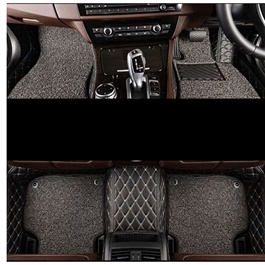 Toyota Land Cruiser LC200 9D Floor Mats Black Beige With Grey Grass - Model 2015-2018-SehgalMotors.Pk