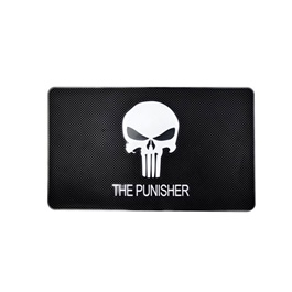 Punisher Dashboard Non Slip / Anti-Skid Mat  | Anti Skid Material | Silicon Type Dashboard Mat | Car Anti Slip Mat-SehgalMotors.Pk