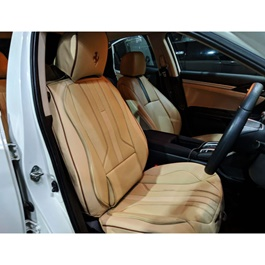 Japanese Leather Type Rexine Seat Covers Cut Style Biege-SehgalMotors.Pk