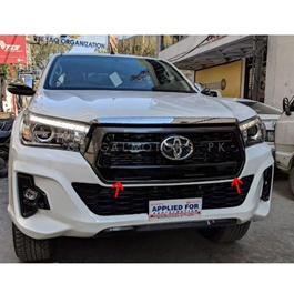 Toyota Hilux Rocco Grille Black - Model 2018-2019 | Front Grille | New Style Grille | Rocco Grille | Revo Grille | | Car Front Up Grille | Decoration Grille Bar For Rocco-SehgalMotors.Pk