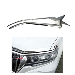 Toyota Prado Headlight / Head Lamp Chrome Trims - Model 2009-2018-SehgalMotors.Pk